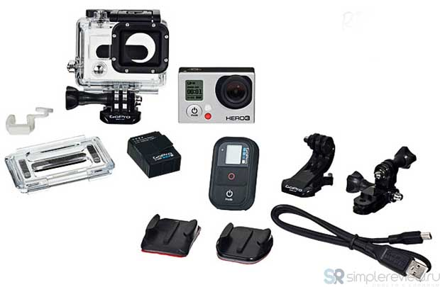 Комплектация GoPro HD Hero 3