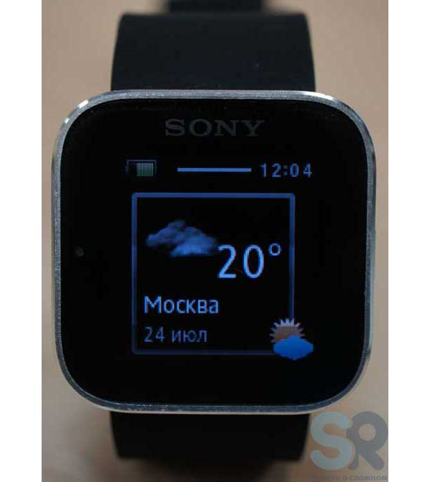 Погода на Sony SmartWatch