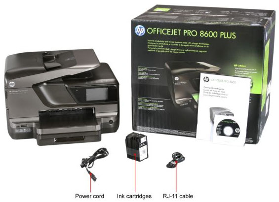 Комплектация HP Officejet Pro 8600 Plus CM750A