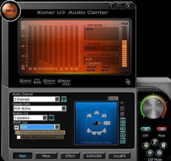 Xonar U3 Audio Center